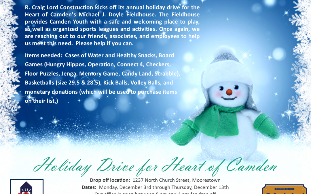 Holiday Drive for Heart of Camden