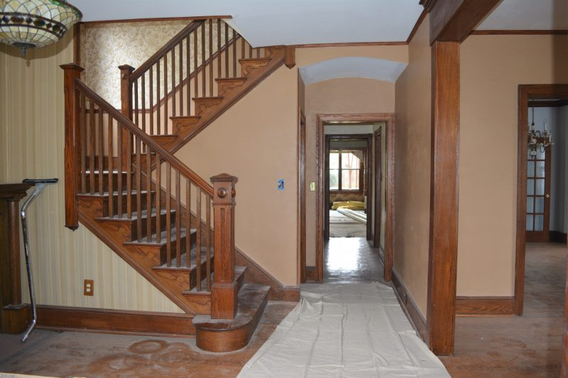 Haddonfield NJ historic home American Chestnut staircase by R. Craig Lord Construction