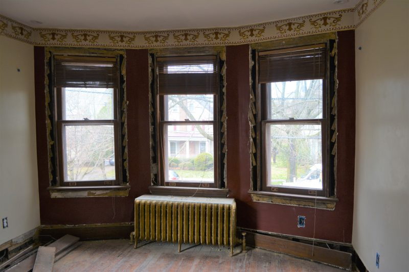 Haddonfield NJ historic home remodel windows remove molding by R. Craig Lord Construction