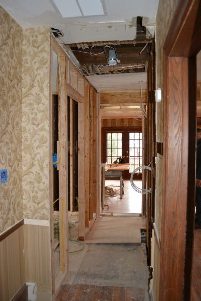 Haddonfield NJ historic home remodel tube and knob removal and new framing by R. Craig Lord Construction