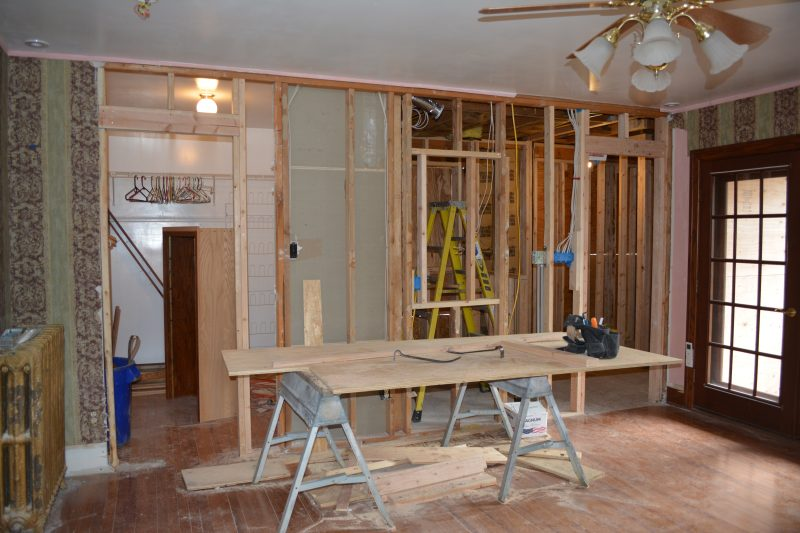Haddonfield NJ historic home remodel closet framing and bathroom framing by R. Craig Lord Construction