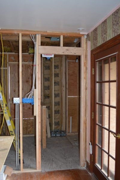 Haddonfield NJ historic home remodel bathroom framing by R. Craig Lord Construction