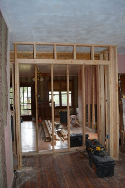 Haddonfield NJ historic home remodel closet framing by R. Craig Lord Construction