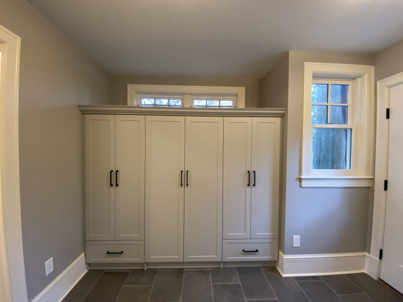 Lestini mudroom and powder room finished