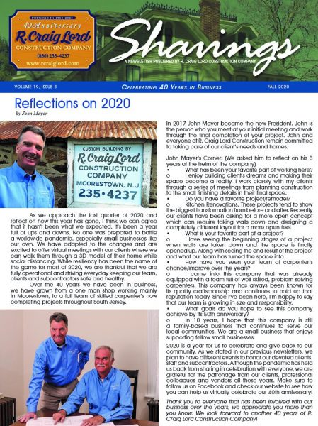 Fall Newsletter 2020